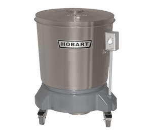 Hobart SDPS-11 Salad Dryer, floor model, 20 gallon capacity, 406 RPM, stainless steel outer tub & lid, polyethylene spin basket with handle grips, 1/4 HP motor, 115/60/1, 2.5 amps, UL, NSF