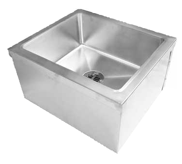 "GSW USA SE2424FM Mop Sink - Floor Mount 21""W x 21""L x 9""D Bowl, Stainless Steel"