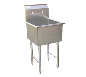 "GSW USA SEE18181P Prep Sink, one compartment, 21""W x 21""D x 45""H"