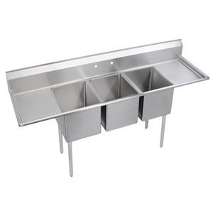 "GSW SEE18183D Sink, three compartment, 90-1/4""W x 24""D x 45""H"