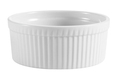 "CAC China SFB-12 SFB Souffle Bowl, 12 oz., 4-1/2"" dia. x 2-1/4""H, round, fluted, 1dz Per Case"