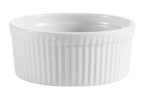 "CAC China SFB-32 SFB Souffle Bowl, 32 oz., 6"" dia. x 2-3/4""H, round, fluted, 1dz Per Case"
