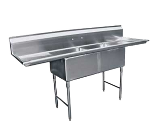 "GSW SH24242D Sink, two compartment, 96-1/4""W x 30""D x 45""H"