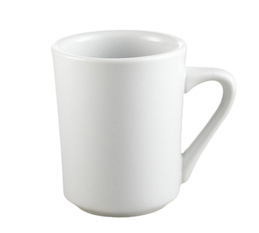 "CAC China SI-8-P Clinton Sierra Mug, 8 oz., 3-3/8"" dia. x 4-1/4""H, round, tall, 3dz Per Case"
