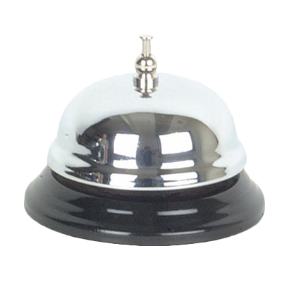 Thunder  SLBELL001 Call Bell, one-touch button, loud sound, plastic bottom, chrome plated