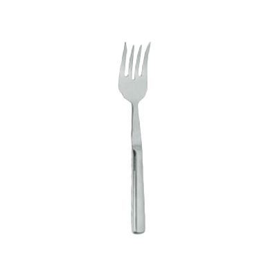 "Thunder Group SLBF005 Meat Fork 10-1/4"" OAL Four Tine, Stainless Steel Mirror-Finish"