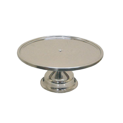 "Thunder Group SLCS001 Cake Stand, 13-1/4"" dia., stainless steel, mirror finish"