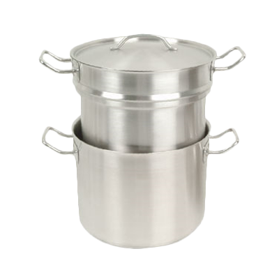 Thunder  SLDB020 Induction Double Boiler, 20 quart, with cover, encapsulated base, 18/8 stainless steel, NSF