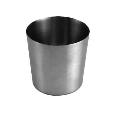 "Thunder Group SLFFC001 French Fry Cup, 13 oz., 3-3/8"" x 3-3/8""H, stainless steel satin finish"