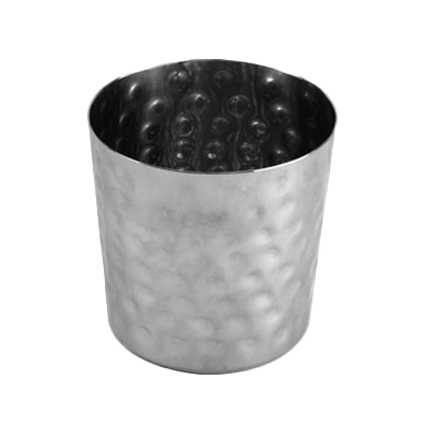 "Thunder Group SLFFC003 French Fry Cup, 13 oz., 3-3/8"" x 3-3/8""H, stainless steel hammered finish"