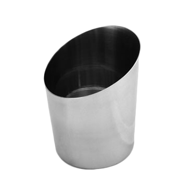 "Thunder Group SLFFC005 French Fry Cup, 14 oz., 3-3/8"" x 4-1/2""H, angled, stainless steel mirror finish"