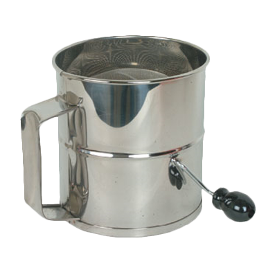 Thunder SLFS008 8 Cup Stainless Steel 4 Wire Agitator Rotary Flour Sifter