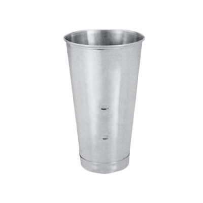 Thunder  SLMC001 Malt Cup, 30 oz. capacity, designed to fit standard machines, stainless steel