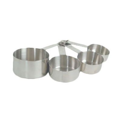 Thunder Group SLMC2414 4-Piece Stainless Steel Measuring Cup Set