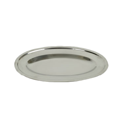 "Thunder  SLOP014 Serving Platter, 14"", oval, stainless steel, mirror finish"