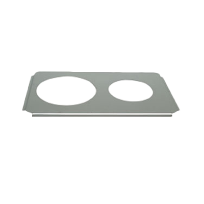 "Thunder Group SLPHAP068 Two Hole Adaptor Plate with Openings 6-1/2"" & 8-1/2"
