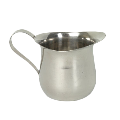 Thunder  SLRBC003 Creamer, 8 oz. capacity, bell shaped, open rimmed, loop handle, stainless steel, mirror-finish