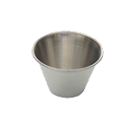 "Thunder Group SLSA004 4 oz (2-4/5"" dia) Stainless Steel Sauce Cup"