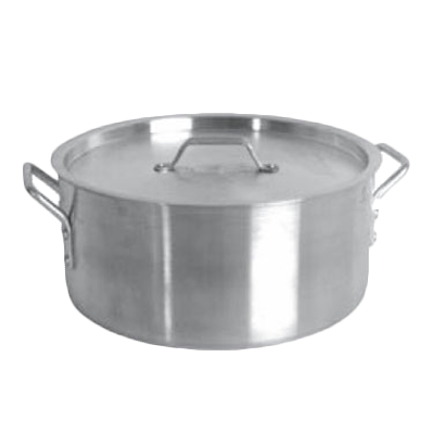 Thunder Group SLSBP015 Brazier, 15 quart, with lid, encapsulated base, 18/8 stainless steel, NSF