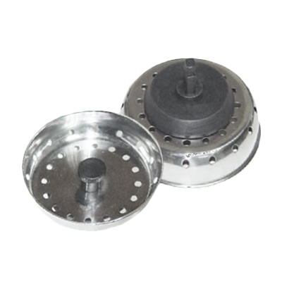 "Thunder Group SLSTR30 Sink Strainer 3"" with 2-1/2"" Stopper, Perforated Stainless steel"