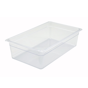 "Winco SP7106 Poly-Ware™ Food Pan, full size, 20-3/4"" x 12-1/2"", 5-1/2"" deep, -40°F to 210°F temp. range, dishwasher safe, break-resistant polycarbonate, NSF"