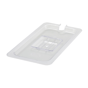 Winco SP7300C Poly-Ware™ Food Pan Cover, 1/3 size, slotted, with handle, polycarbonate, NSF
