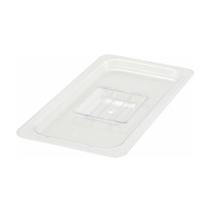Winco SP7300S Poly-Ware™ Food Pan Cover, 1/3 size, solid, with handle, polycarbonate, NSF
