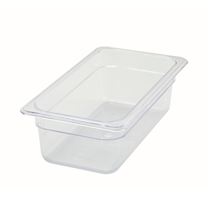 "Winco SP7304 Poly-Ware™ Food Pan, 1/3 size, 12-5/8"" x 6-7/8"", 3-1/2"" deep, -40°F to 210°F temp. range, dishwasher safe, break-resistant polycarbonate, NSF"