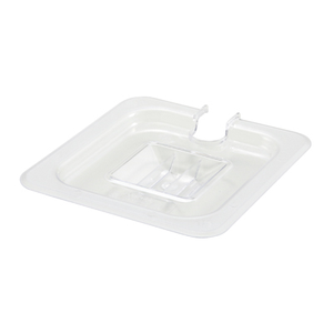 Winco SP7600C Poly-Ware™ Food Pan Cover, 1/6 size, slotted, with handle, polycarbonate, NSF