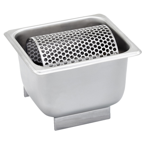 "Winco SPBR-604 Butter Spreader, 7"" x 6-3/8"", includes: 1/6 size pan & removable perforated roller, designed for countertop, stainless steel"