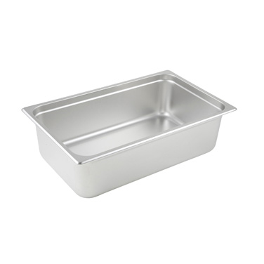 "Winco SPJL-106 Steam Table Pan, full size, 20-3/4"" x 12-3/4"" x 6"" deep, 25 gauge standard weight, anti-jamming, 18/8 stainless steel, NSF"
