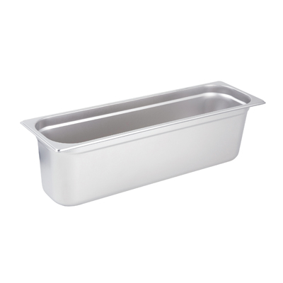 "Winco SPJL-6HL Steam Table Pan, 1/2 size long, 6"" deep, 25 gauge standard weight, anti-jamming, stainless steel, NSF"