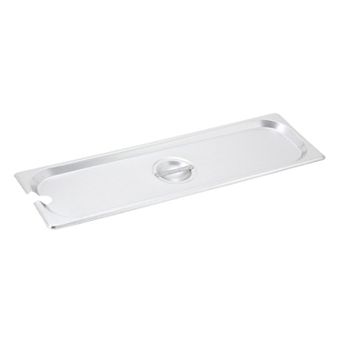 Winco SPJL-HCN Half-Long Size Notched Steam Table Pan / Hotel Pan Cover