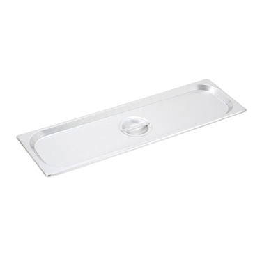Winco SPJL-HCS Half-Long Size Solid Steam Table Pan / Hotel Pan Cover