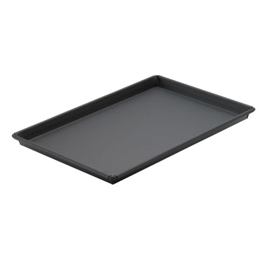 "Winco SPP-1218 Sicilian Pizza Pan, 12"" x 18"" x 1"", rectangular, tapered design, fully nesting, non-stick coating, heavyweight cold rolled steel"