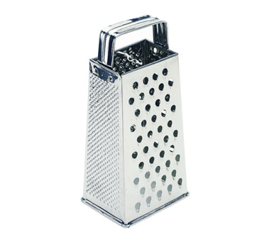 Crestware SSG4 Grater tapered four sided nested 18/8 stainless steel