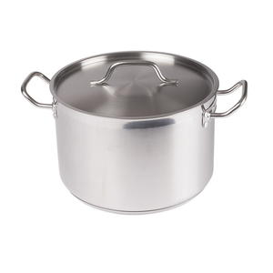 Winco SST-12 Stainless Steel Stock Pot 12 Qt w/ Cover