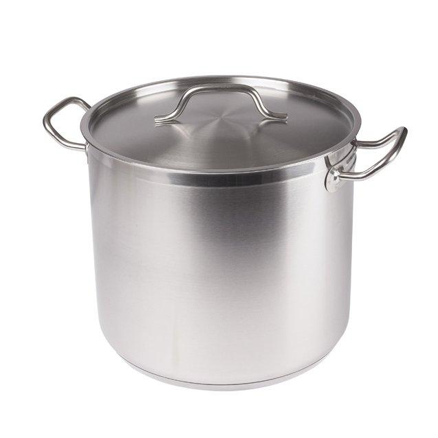 Winco SST-20 Stainless Steel Stock Pot 20 Qt w/ Cover