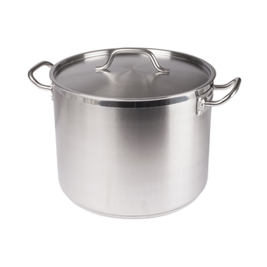 Winco SST-24 Stainless Steel Stock Pot 24 Qt w/ Cover