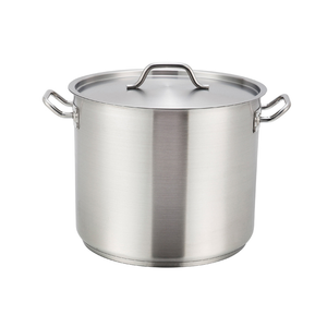 Winco SST-32 Stainless Steel Stock Pot 32 Qt w/ Cover
