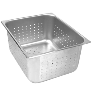 "Thunder Group STPA7004PF Full Size 4"" Deep Perforated Steam Pan"