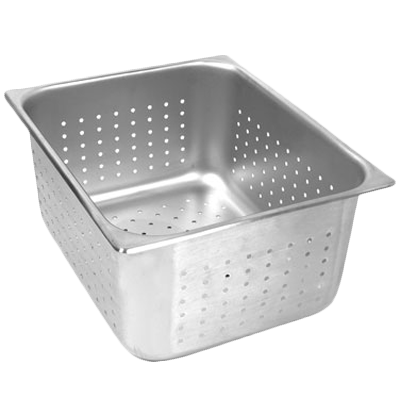 "Thunder Group STPA7124PF Half-Size 4"" Deep Perforated Steam Pan"