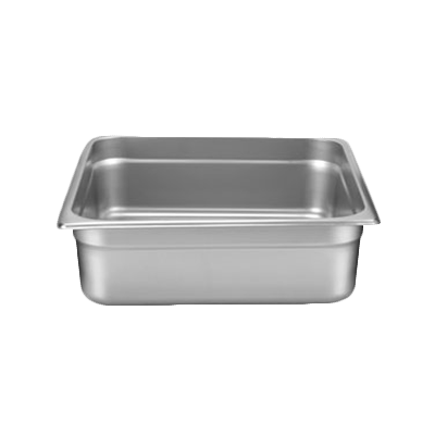 "Thunder STPA8234 Stainless Steel 2/3 Size Steam Table Pan 4"" Deep 24 Gauge"