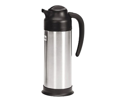 Crown Brands SV-100 Update International™ - Vacuum Creamer, 1 liter, insulated, stainless steel lined, stainless steel body, black plastic top