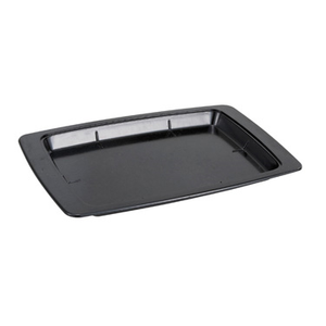 Winco SWU-11B Underliner, for sizzling platter (SIZ-11B), oblong, plastic, black