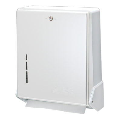 San Jamar T1905WH Classic® Paper Towel Dispenser, wall mount, flip door, white finish