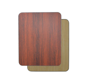 DHC T1-MN-3048S Square Reversible Laminate Table Top For Indoor Use (Mahogany & Natural)