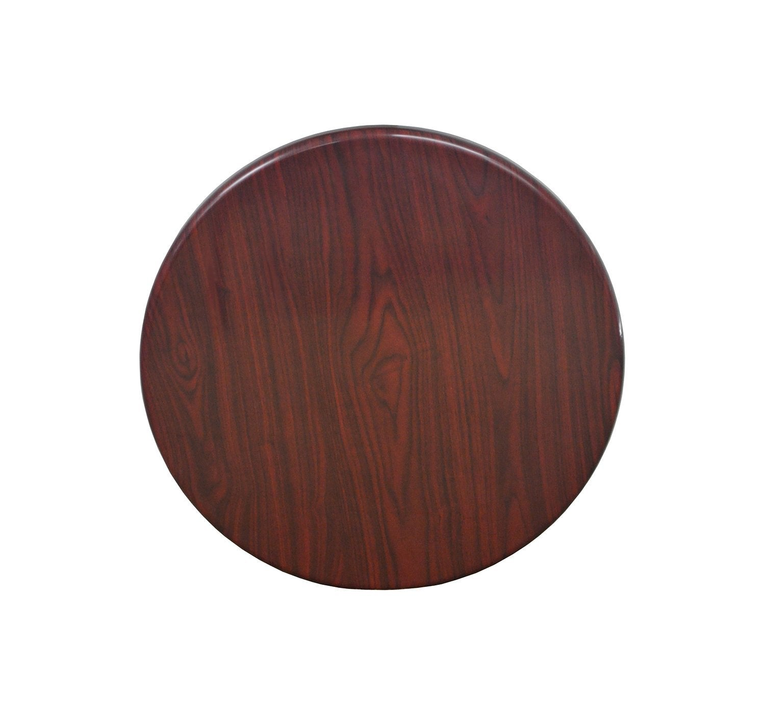 DHC T2-RH Resin Coated / Mahogany Color Coated Table Top for Restaurants