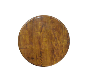 DHC T2-RK Round Resin Coated Table Top for Restaurants
