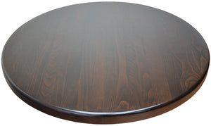 DHC-T4-UV-WAL Walnut Color UV Finish Table Tops  for Restaurants